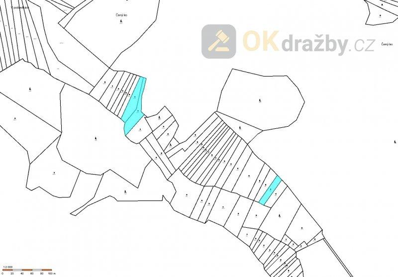 Zemědělské pozemky o celkové výměře 3 619 m2 v obci Štěměchy, okres Třebíč