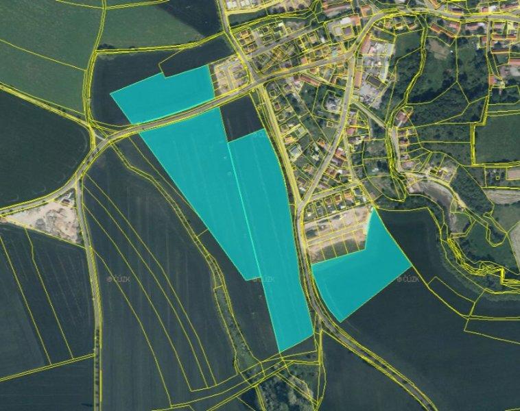 Dražba pozemků, k.ú. Královice, celková výměra 907