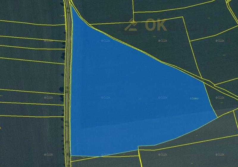 Dražba pozemků o celkové výměře  220.606 m² (druh