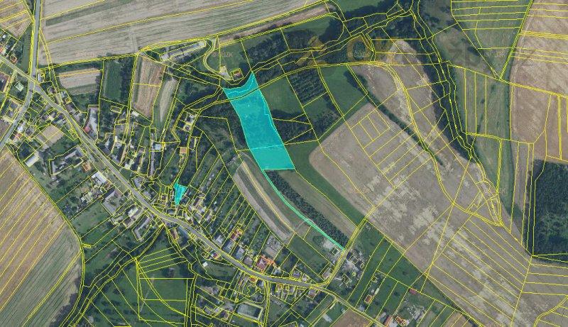 Dražba pozemků (louka, pole) k.ú. Měrotín