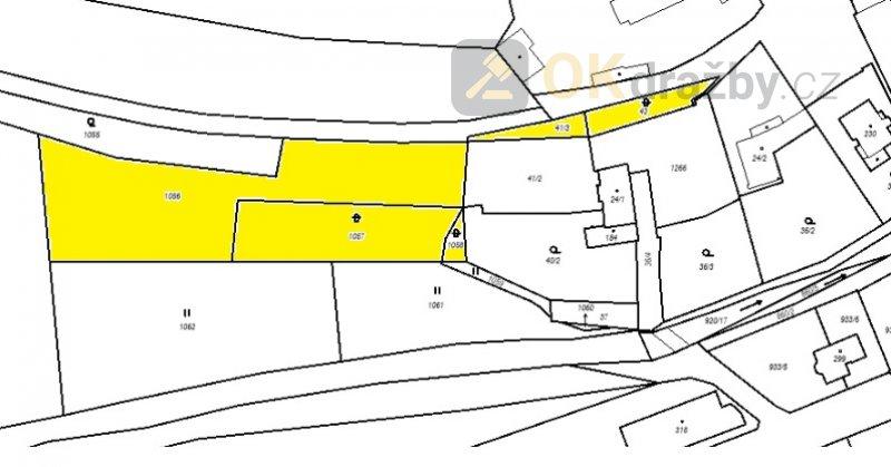 Dražba pozemků, ostatní plocha, celková výměra 3.5